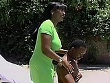 Huge Titty Ebony Babe Gets Nailed
