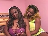 Chubby Busty Black Chicks In Threesome