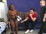 Black Female Midget in FMM Threesome