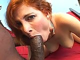 Redhead Loves The Big Black Cock