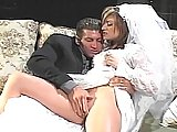 A Bride And Groom On Their Wedding Nite