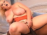 Busty Blonde Plumber Gets Black Cock