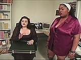 Two Fat Interracial Chicks Suck Dick
